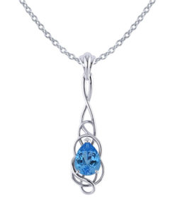 Whimsical Blue Topaz Pendant