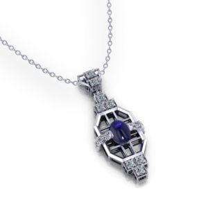 Art Deco Sapphire Pendant