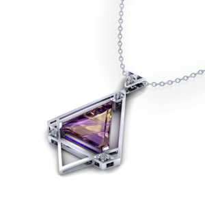 Geometric Ametrine Necklace