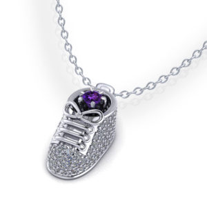 Diamond Birthstone Baby Shoe