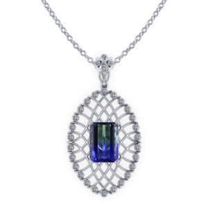 Bicolor Tanzanite Necklace