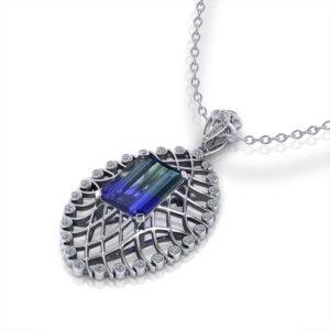 Bicolor Tanzanite Necklace