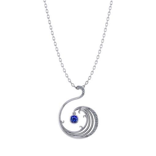 Sapphire Wave Necklace