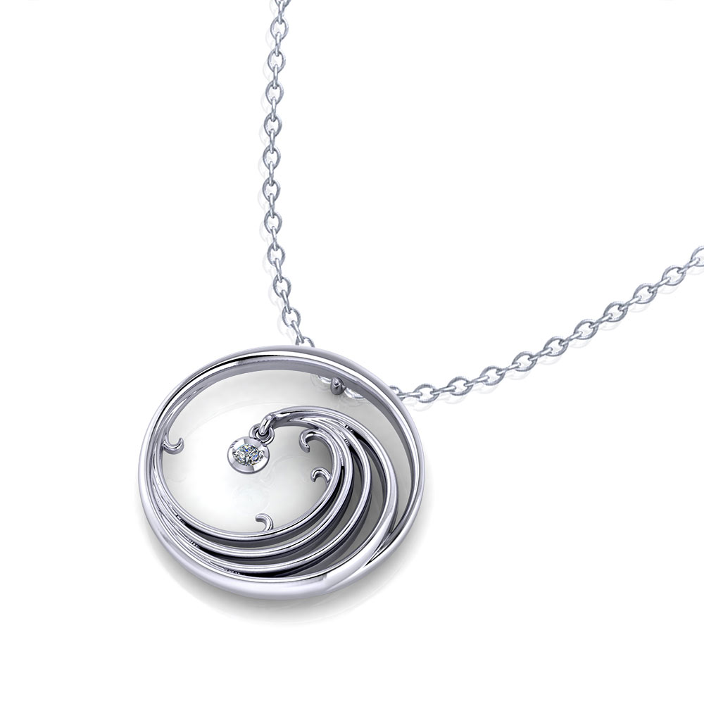 Spinning Wave Necklace