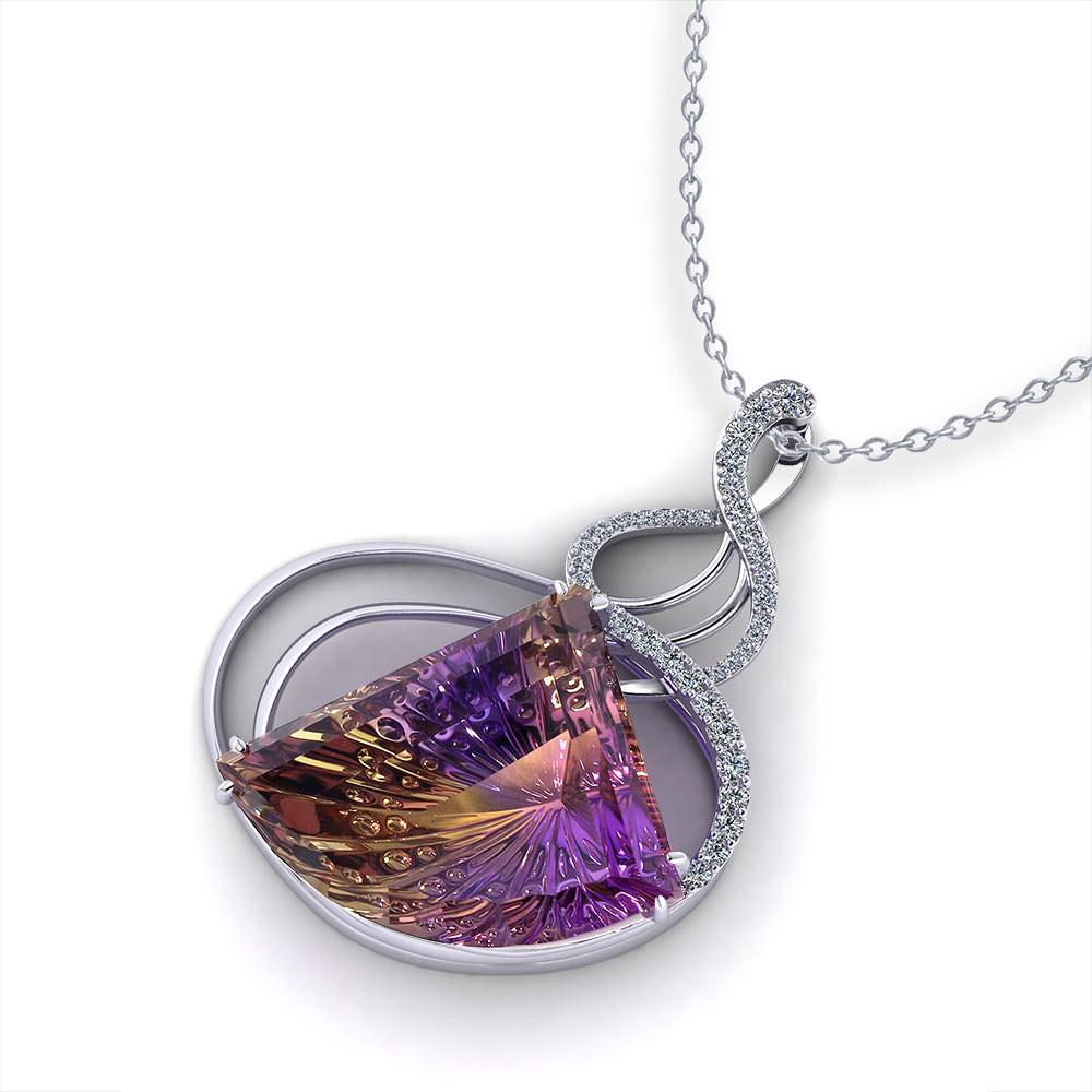 Woven Ametrine Necklace