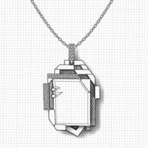 Geometric Lemon Citrine Necklace