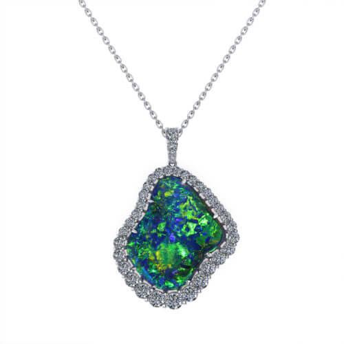 Rare Black Opal Necklace