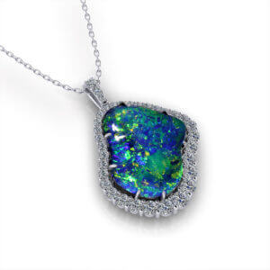 Rare Black Opal Necklace