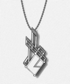 Geometric Artisan Ametrine Pendant