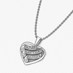 Family Heart Necklace