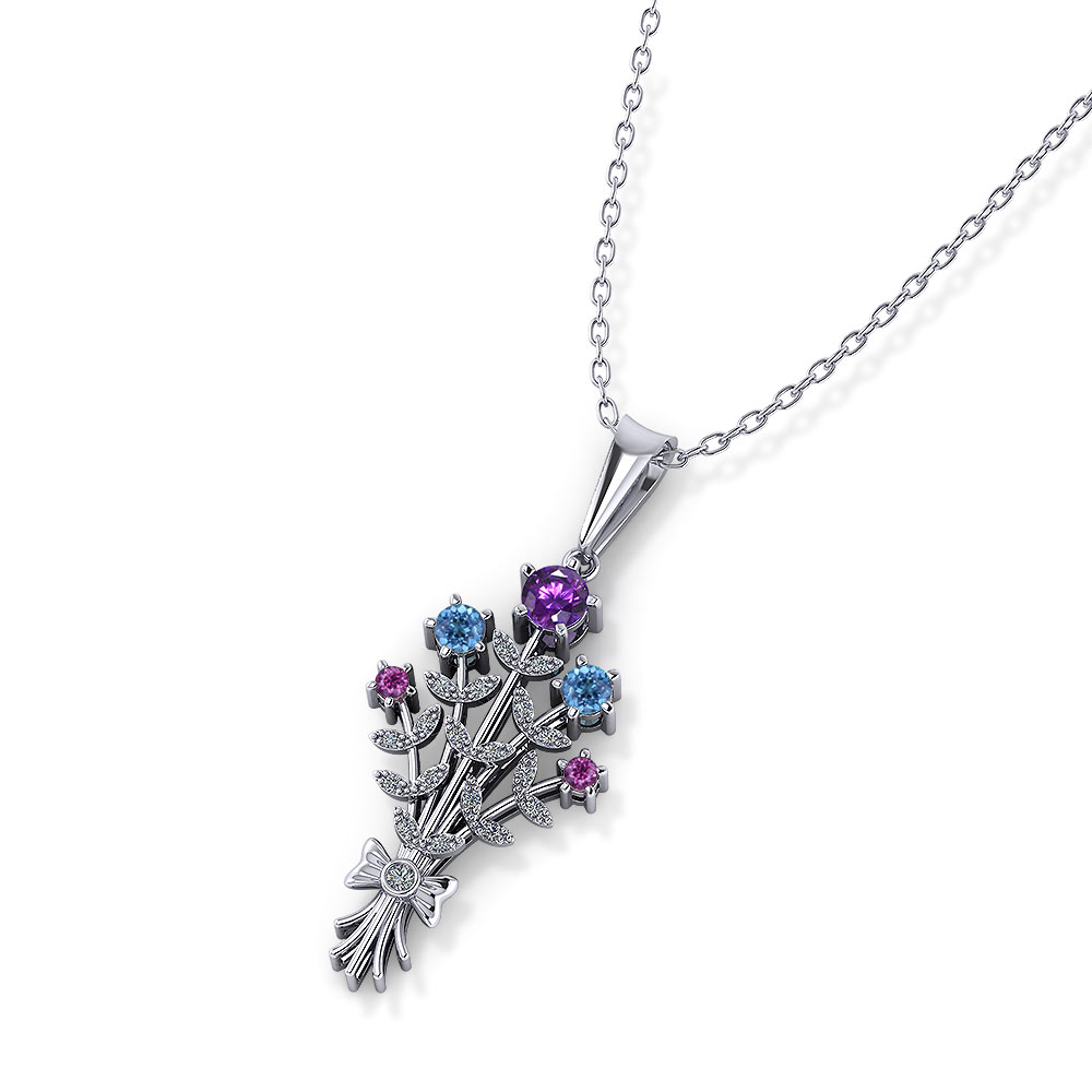 Birthstone Bouquet Necklace