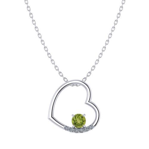 Peridot Heart Necklace