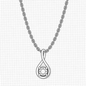 October Birthstone Necklace