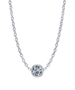 Diamond Bezel Necklace