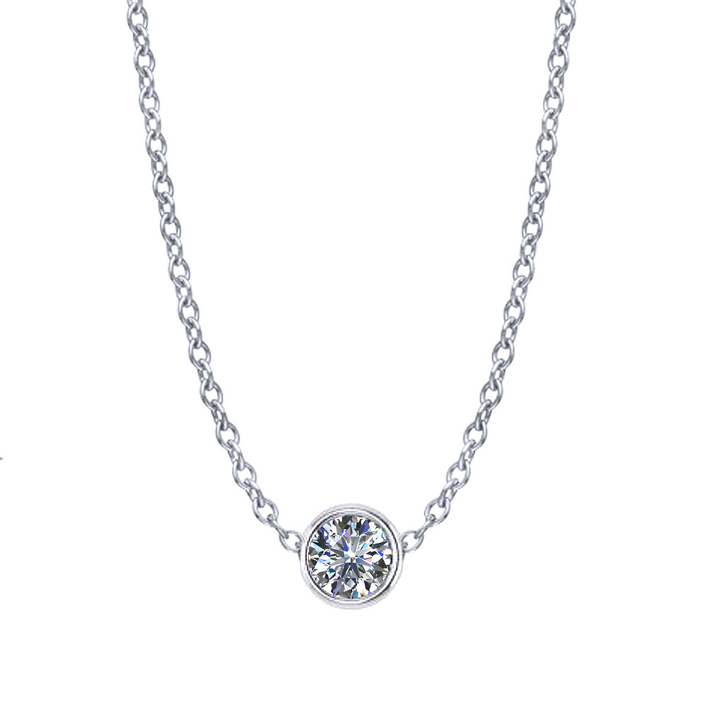 set white bezel majesty o gold stone halo chain pendant necklace in ctw with accents lisa multi bijoux round diamond