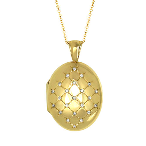 Heavy Diamond Locket