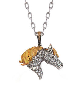 ND252-1 Diamond Horse Pendant