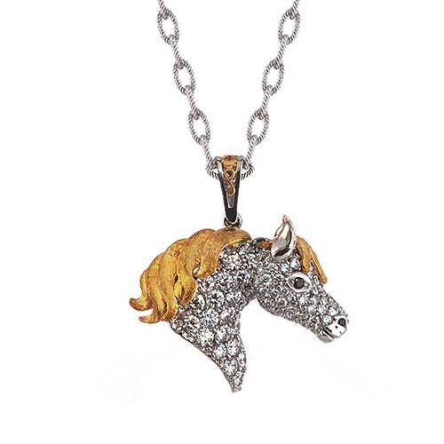 ND252-1 Diamond Horse Pendant