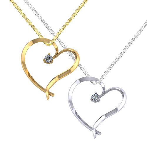 Floating diamond heart necklace jewelry designs floating diamond heart necklace aloadofball Gallery