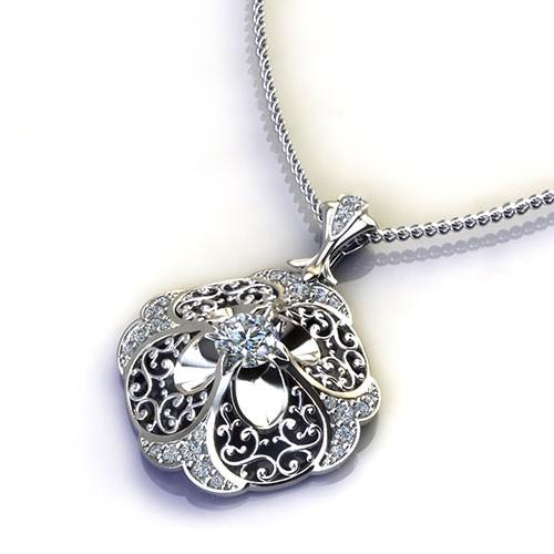 Floral Diamond Pendant