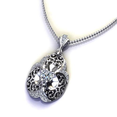 Diamond Filigree Necklace