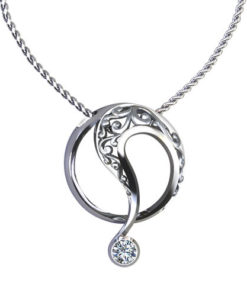 Circle Scroll Necklace