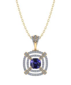 Tiered Diamond Sapphire Necklace