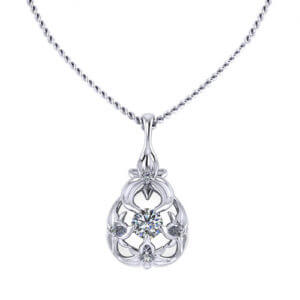 Diamond Floral Necklace