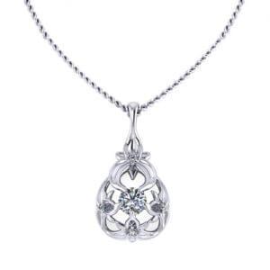 Diamond Floral Necklace