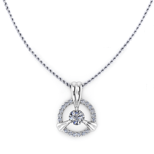 Petal Diamond Halo Necklace