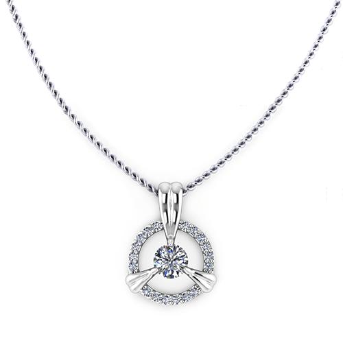 Petal Diamond Halo Necklace