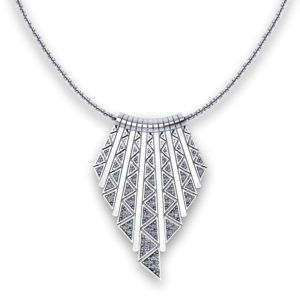 Triangular Diamond Tassel Necklace