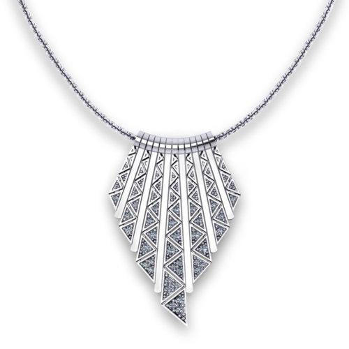 Triangular Diamond Tassel Necklace