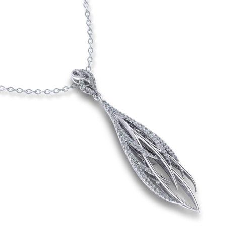 Feather Diamond Necklace