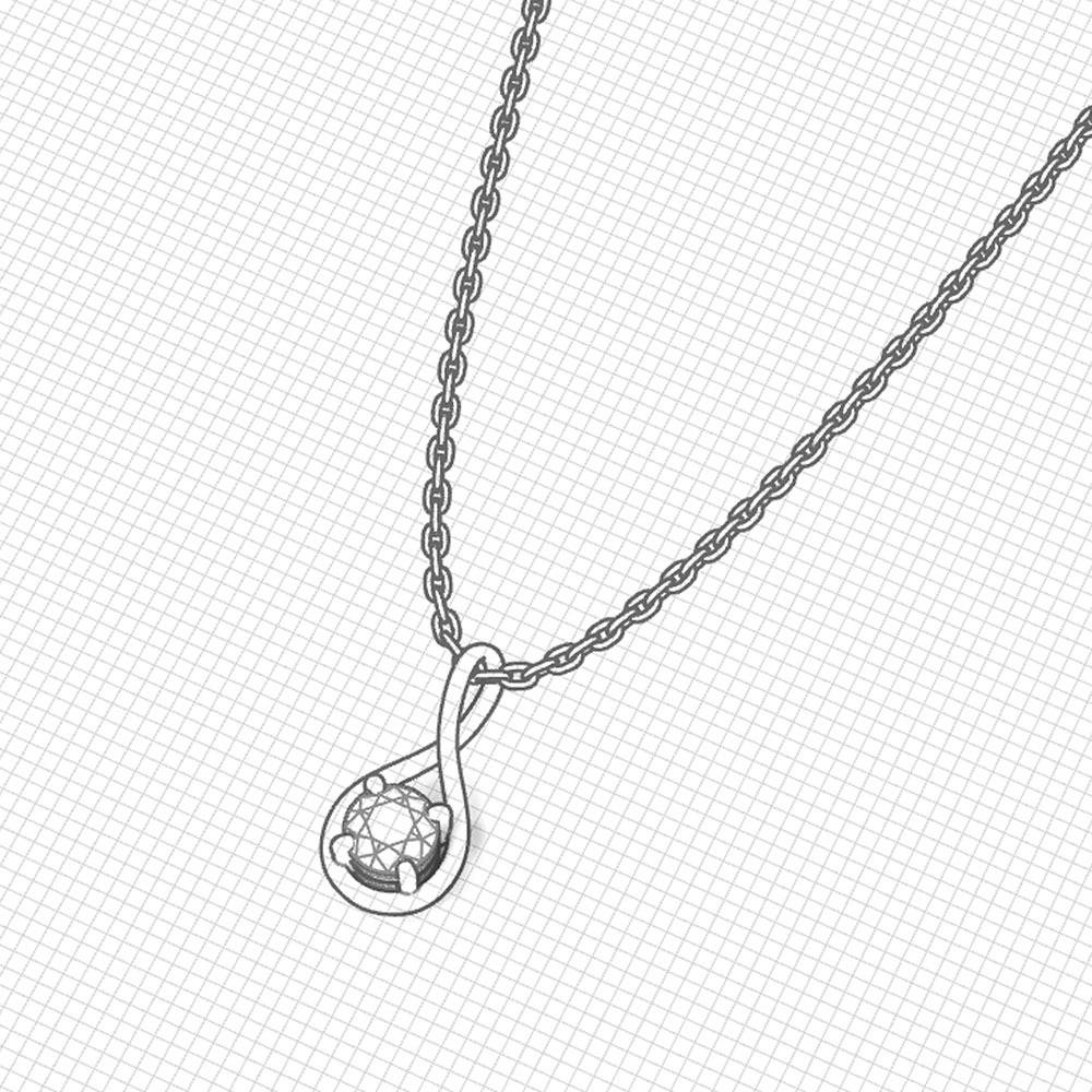 Simple Diamond Drop Pendant | Jewelry Designs