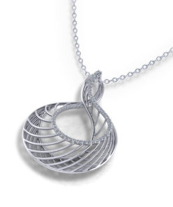 Spiraling Diamond Necklace