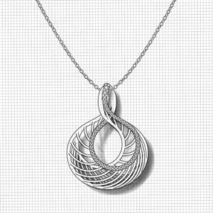 Spiraling Diamond Necklace