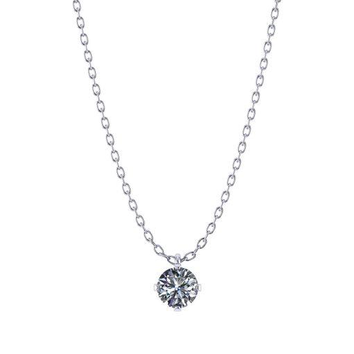3/4 Carat Diamond Solitaire Necklace