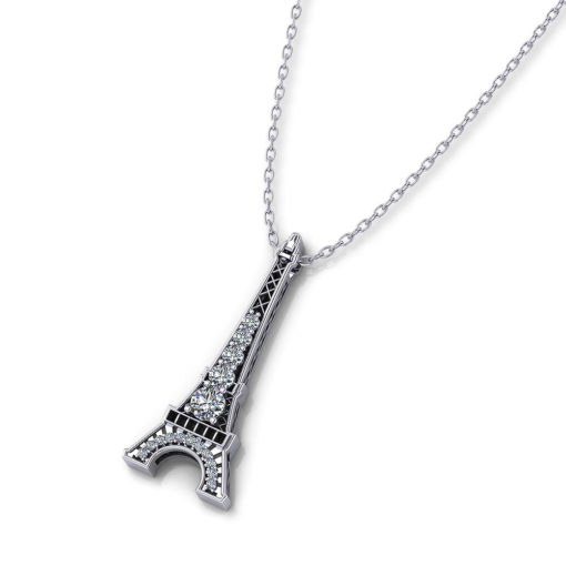 Diamond Eiffel Tower Necklace