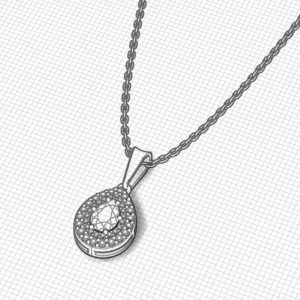 Pear Shape Diamond Pendant