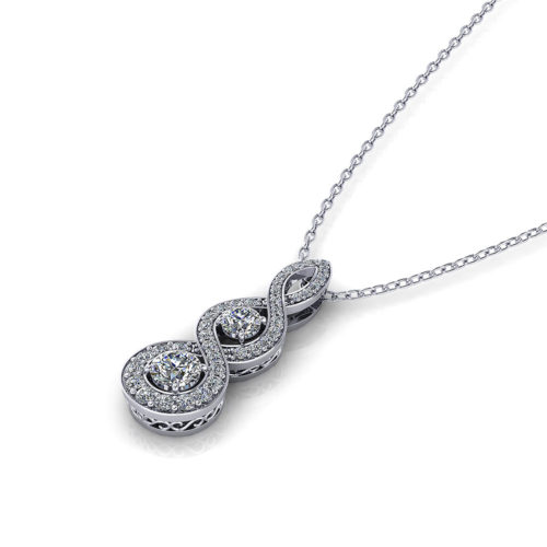 Elegant Diamond Drop Necklace