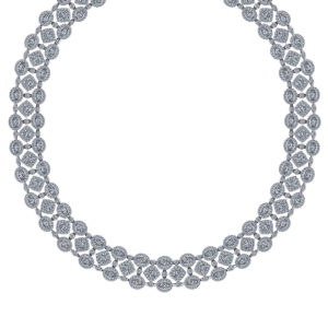 Wide Diamond Bib Necklace