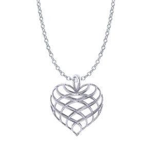 Lattice Heart Necklace
