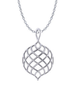 Lattice Tear Drop Necklace