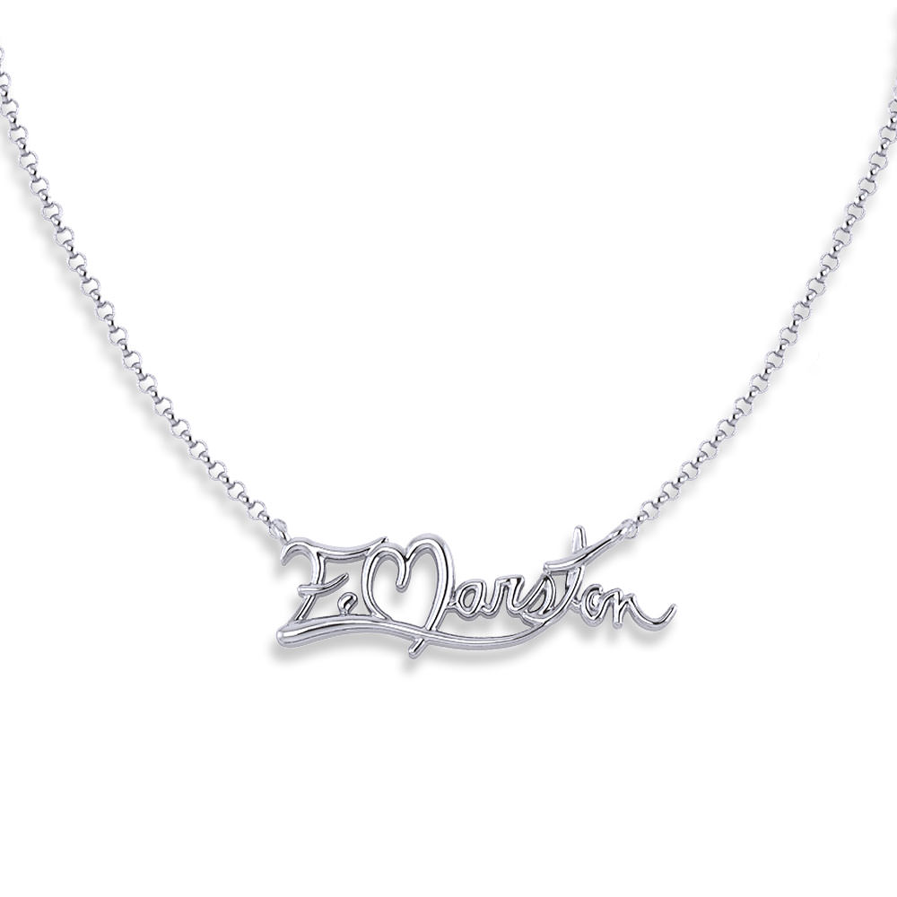 Gold Signature Necklace Jewelry Designs