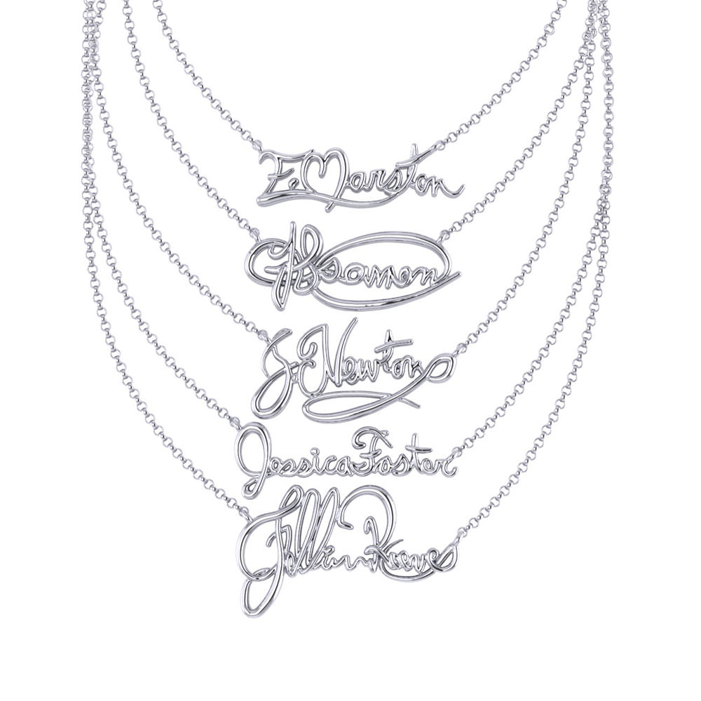 formia pendant product design signature engraved autograph