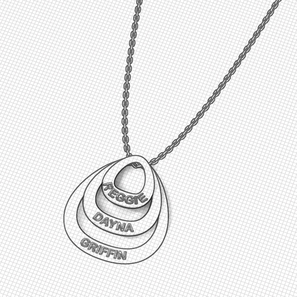Personalized Family Necklace