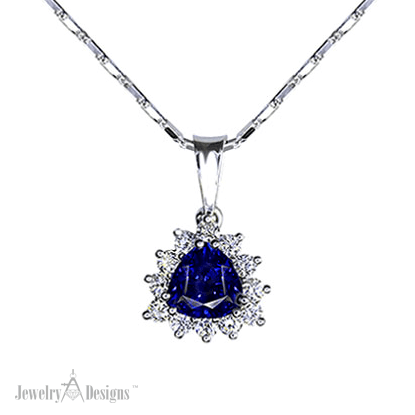NP114-1 Sapphire Trilliant Necklace