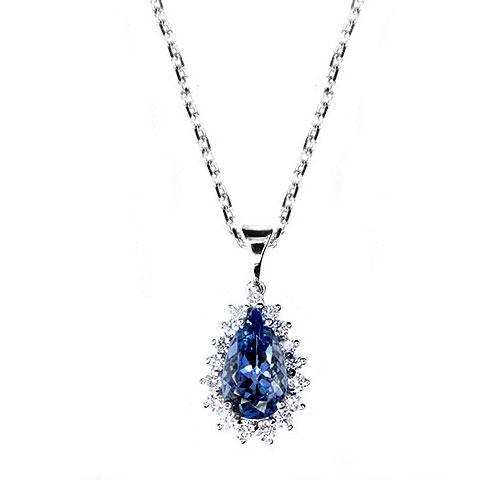 NP114-6 Classic Aquamarine Necklace
