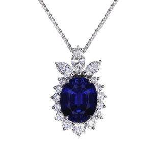 NP139-1 Blue Sapphire Necklace